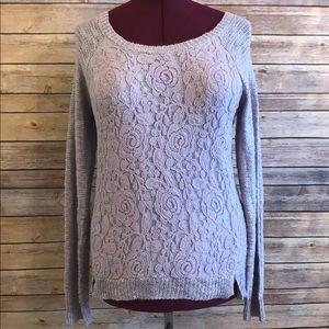 Freshman 1996 Lavender & Lace Front Sweater
